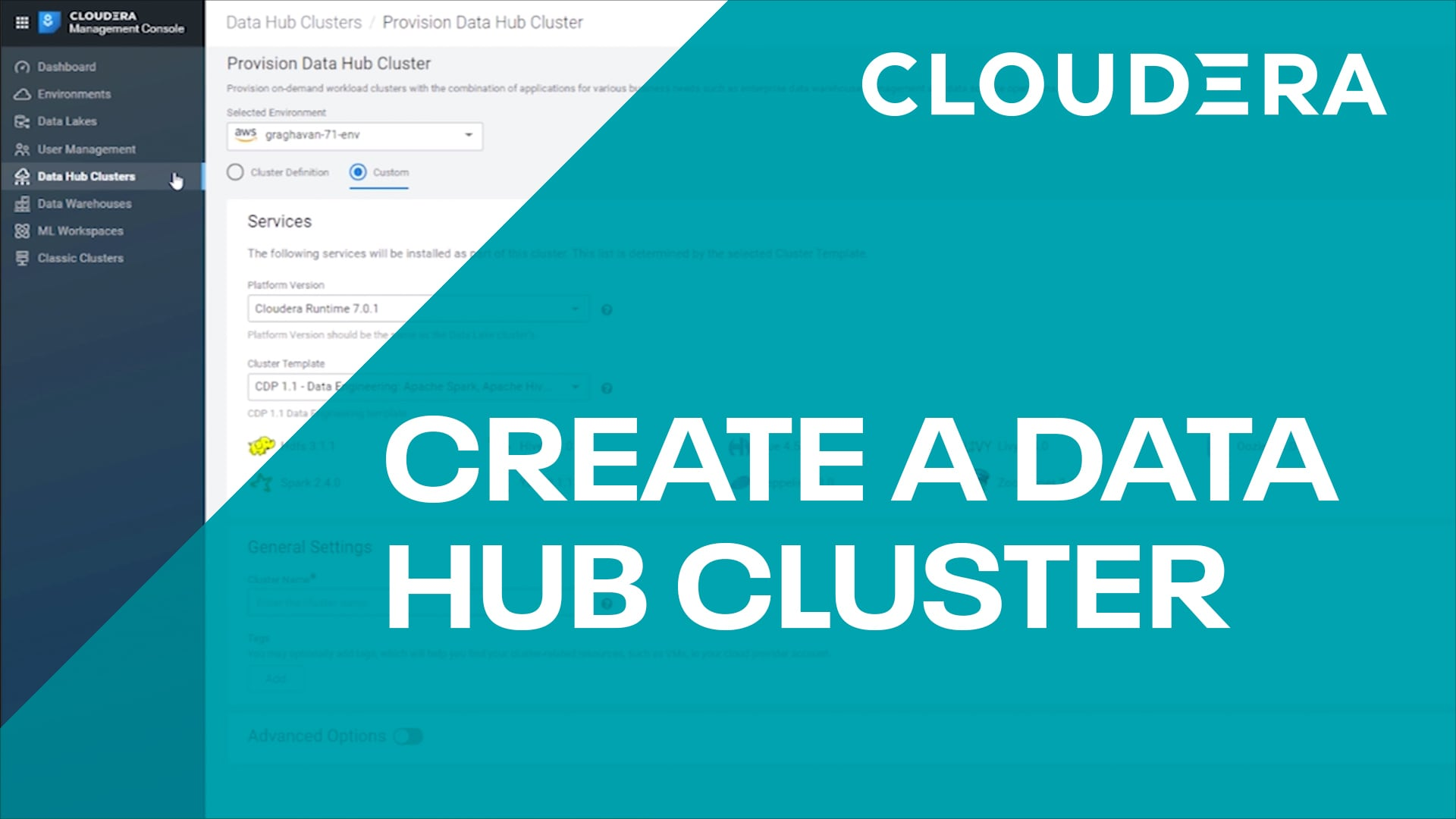 Data Hub - How to Make a Cluster
